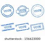 vote stamps | Shutterstock .eps vector #156623000