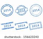 2014 stamps | Shutterstock .eps vector #156623243