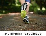 woman jogging away from camera...   Shutterstock . vector #156625133