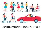 cartoon people characters daily ... | Shutterstock .eps vector #1566278200