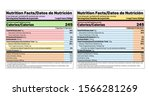 nutrition facts label. vector.... | Shutterstock .eps vector #1566281269