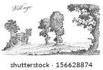 old village illustration | Shutterstock . vector #156628874