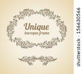 vector vintage baroque...   Shutterstock .eps vector #156630566