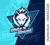 white wolves mascot esport logo ... | Shutterstock .eps vector #1566312220