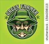 Green Farmer Mascot Logo...