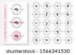 set of feminine logo branding... | Shutterstock .eps vector #1566341530