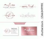 initial nh feminine logo... | Shutterstock .eps vector #1566349990