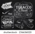 set collection on tobacco and... | Shutterstock .eps vector #156636020