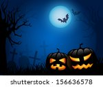 scary halloween background with ... | Shutterstock .eps vector #156636578