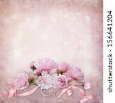 Stock photo vintage elegance background with roses 156641204
