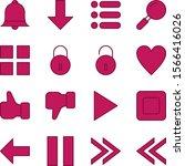 16 set of basic elements icons...
