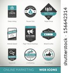 quality online marketing labels ...   Shutterstock .eps vector #156642314