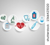 abstract medical background... | Shutterstock .eps vector #1566425020