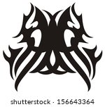 tribal owl head icon | Shutterstock .eps vector #156643364