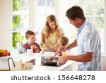 father preparing family... | Shutterstock . vector #156648278