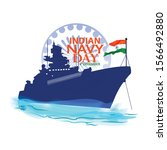 indian navy day in india is... | Shutterstock .eps vector #1566492880