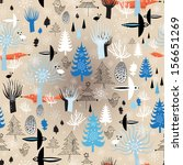 christmas seamless pattern with ... | Shutterstock .eps vector #156651269