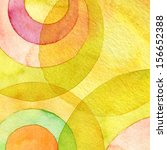 abstract watercolor circle...   Shutterstock . vector #156652388