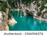 Verdon Gorge  Provence  France. ...