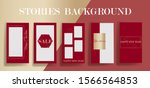 stories frame templates. vector ... | Shutterstock .eps vector #1566564853