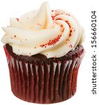 Red Velvet Cupcake With White...