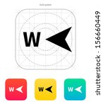 west direction compass icon.... | Shutterstock .eps vector #156660449