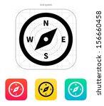 compass icon. vector... | Shutterstock .eps vector #156660458