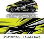 sport car decal wrap design... | Shutterstock .eps vector #1566611626