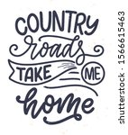 country music lettering quote... | Shutterstock .eps vector #1566615463