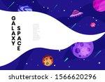flat galaxy space futuristic...