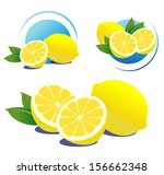 Lemons with leaves. File is not flattened. Easy to add your design.
