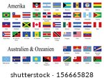american and oceania flags | Shutterstock . vector #156665828