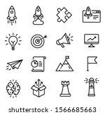 startup icons  thin line design ... | Shutterstock .eps vector #1566685663