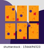 trendy abstract vector new... | Shutterstock .eps vector #1566696523