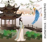 Ancient Chinese Ladies With Th...