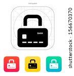 credit card abstract padlock...