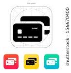 bank credit cards icon. vector...