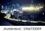 blur image of the city at ...