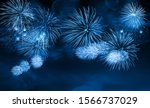 Abstract Blue Color Firework...