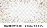 festive confetti. celebration... | Shutterstock .eps vector #1566755560