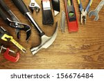 Closeup Of Assorted Work Tools...