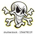 skull and crossbones | Shutterstock .eps vector #156678119