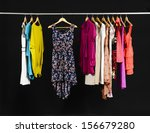 female fashion clothing with... | Shutterstock . vector #156679280