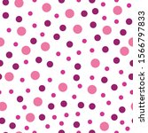 Seamless Pattern Of Pink Dots....