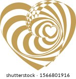 heart of gold shining... | Shutterstock .eps vector #1566801916