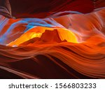 Gran Canyon Corridors With Red...