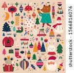 christmas decorative huge... | Shutterstock .eps vector #1566816076