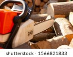 close up of woodcutter sawing... | Shutterstock . vector #1566821833