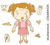 children food allergy   Shutterstock .eps vector #156684434