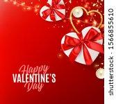 happy valentine's day card....   Shutterstock .eps vector #1566855610